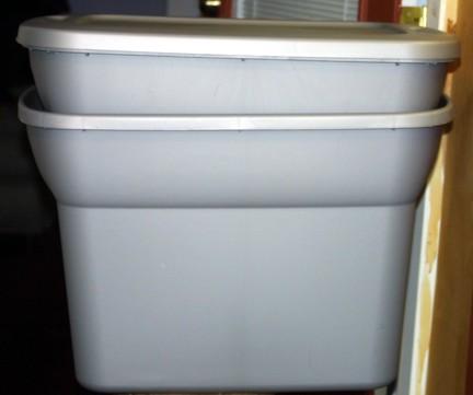 My 2 tub worm bin
