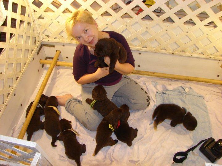 Ellen in Puppyland!